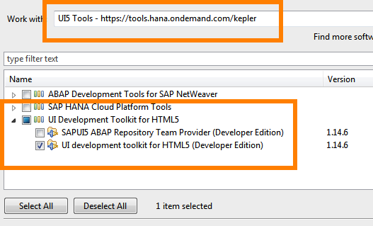 Install UI5 Tools in Eclipse