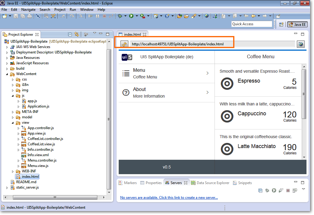 UI5 Boilerplate with Eclipse + SAPUI5 Toolkit – MYPRO-Consulting
